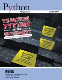 Cover of August 2009 Python Magazine