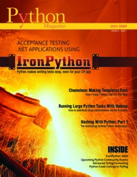 Cover of July 2009 Python Magazine