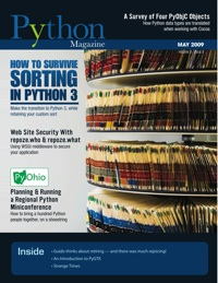 Cover of May 2009 Python Magazine