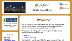 Python Atlanta web site