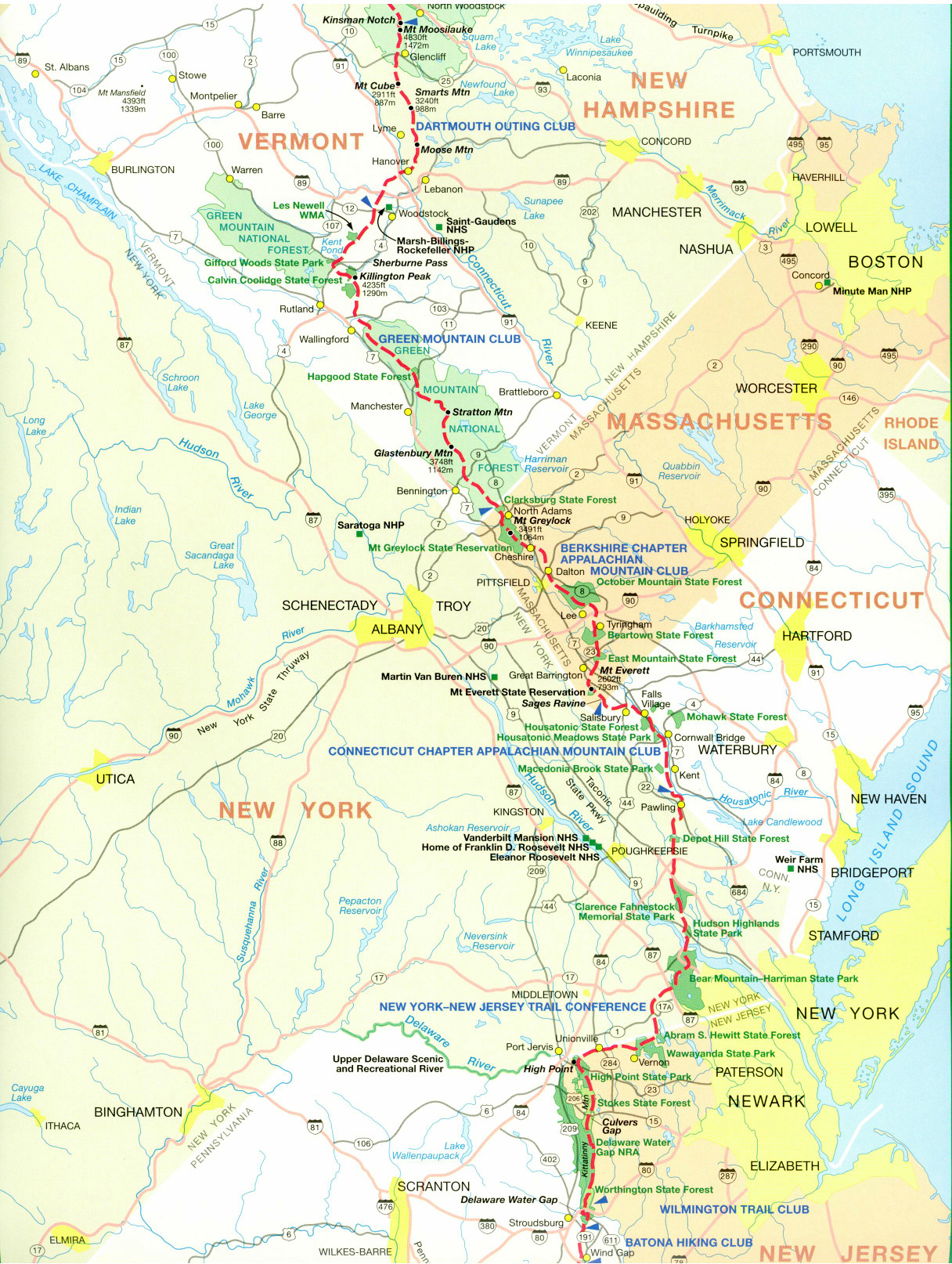 graphic relating to Printable Map of Nj called Formal Appalachian Path Maps