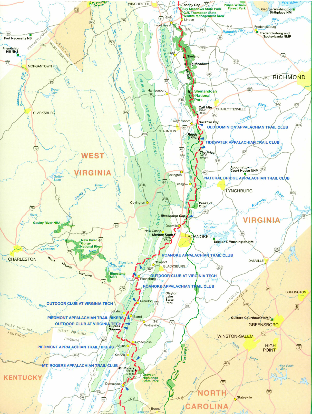 Official Appalachian Trail Maps on